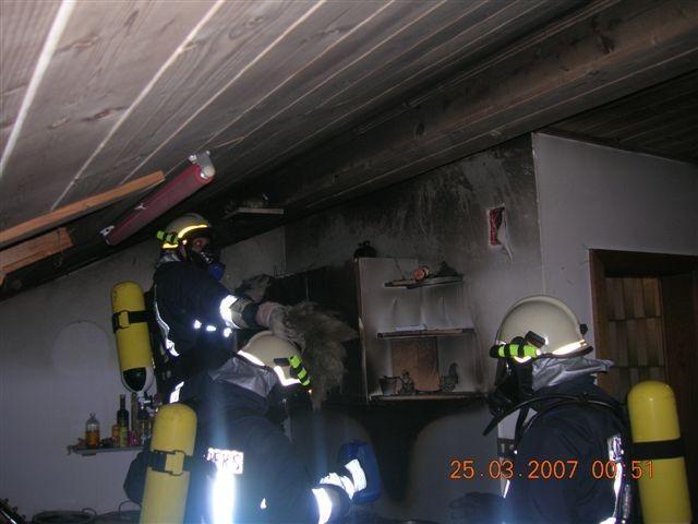 Wohnungsbrand Hauptstraße 2007