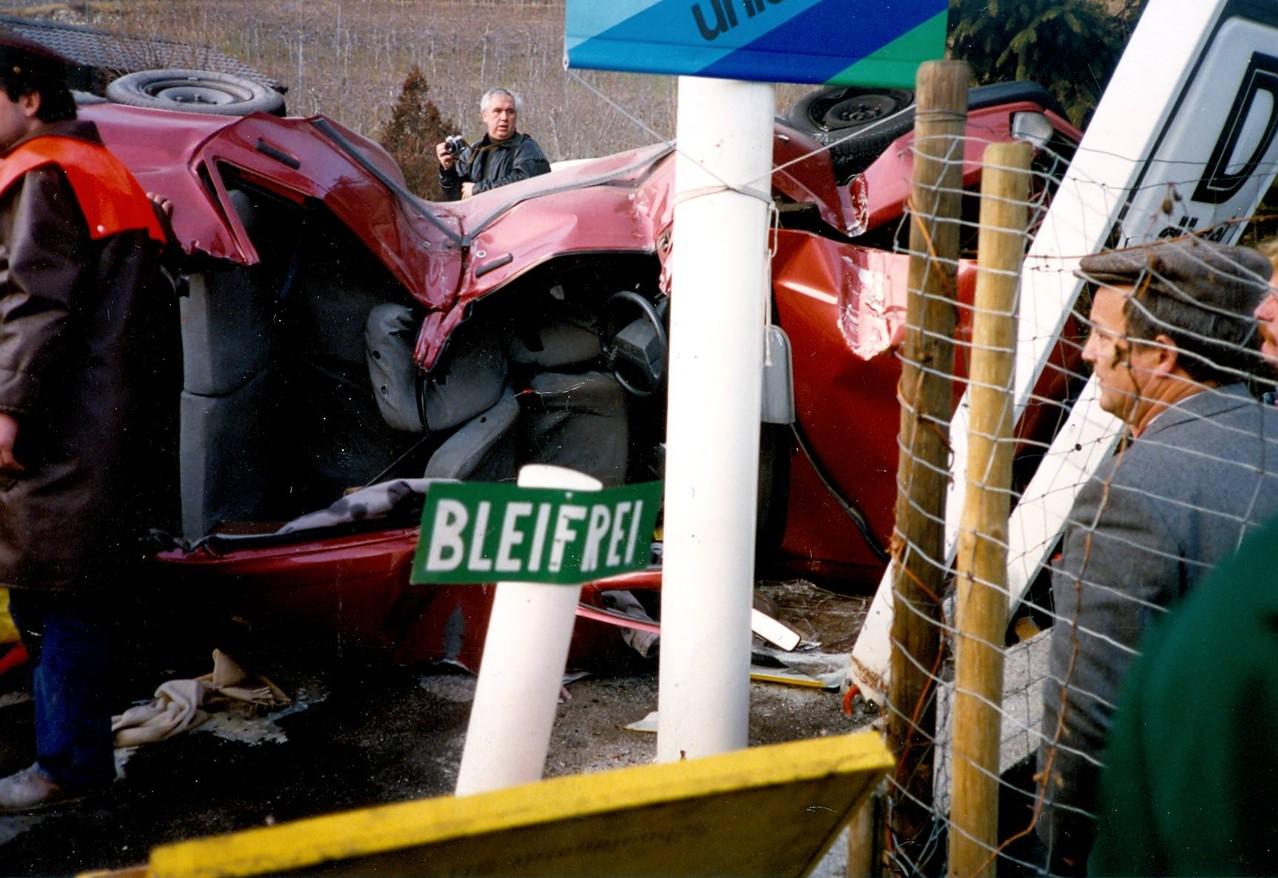 Unfall Agip Tankstelle