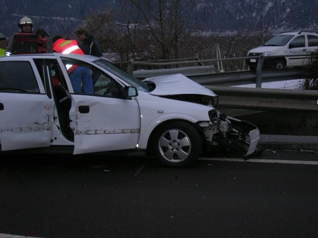 PKW Unfall Schlandraunbrücke 2009
