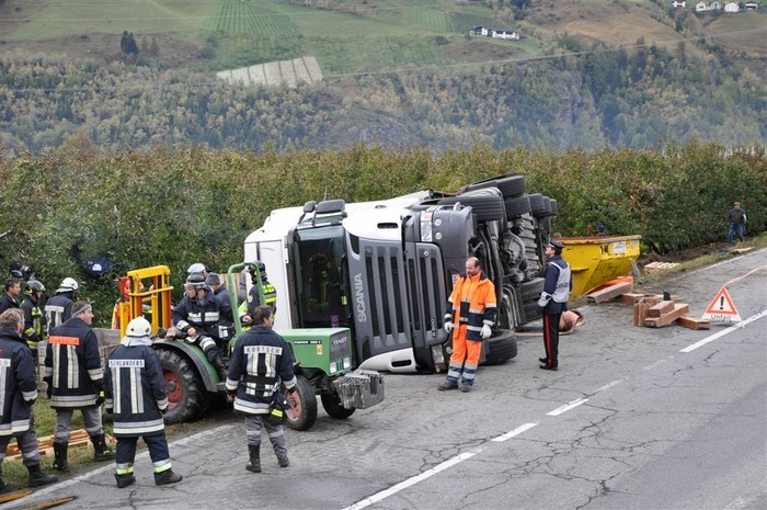 LKW-Unfall Laaserhöhe 2009