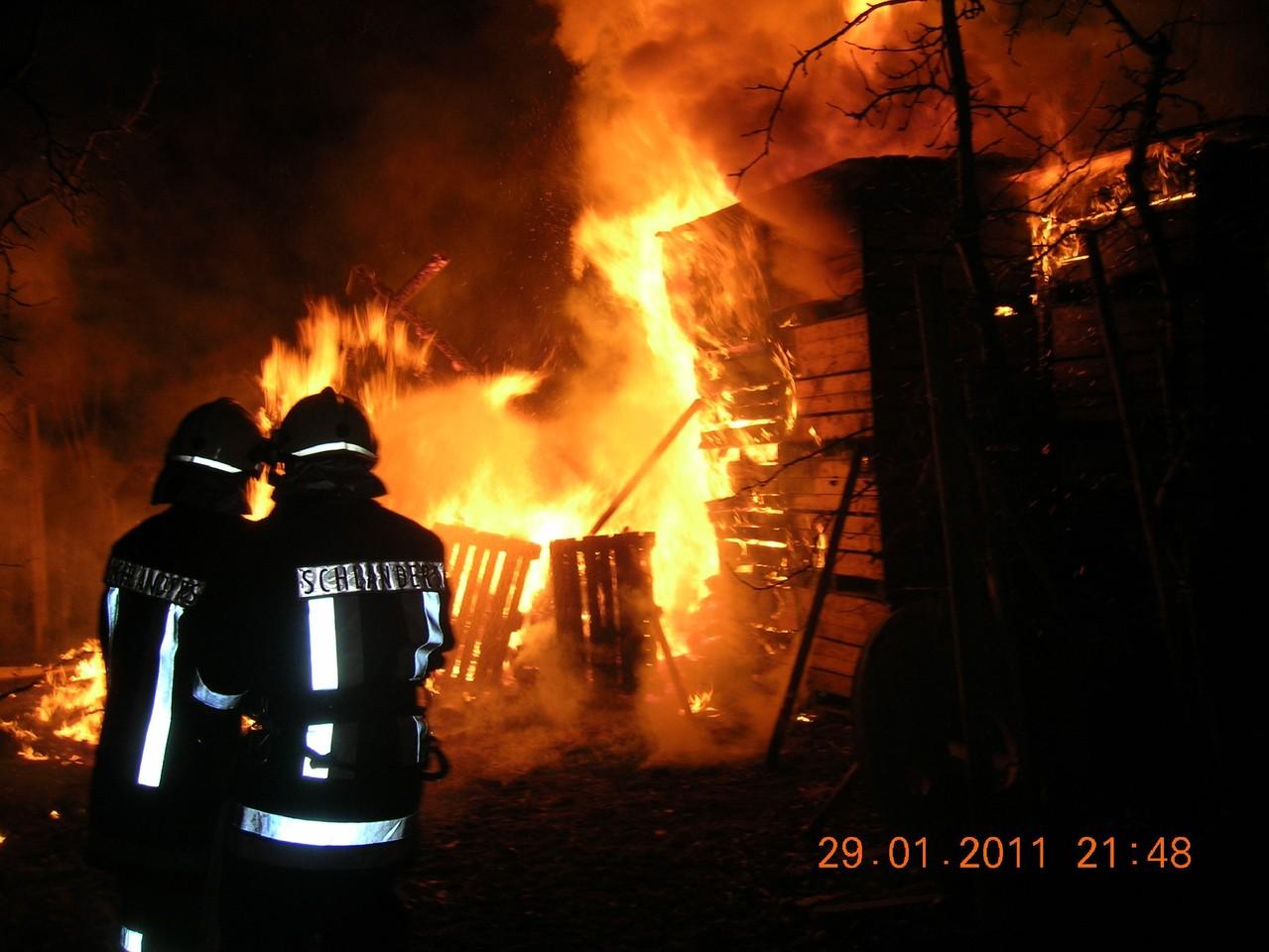 Brand Holzschuppen