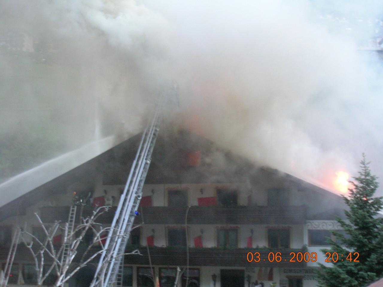 Großbrand Martell Hotel Thairmühl 2009