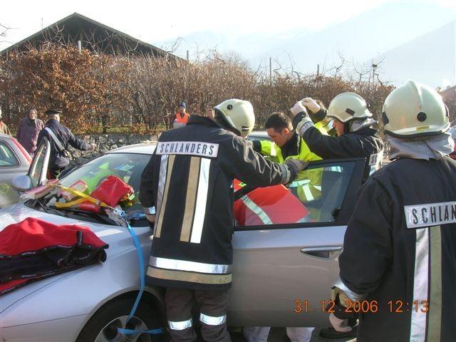 Schwerer Unfall Bahnhofkreisverkehr 2006