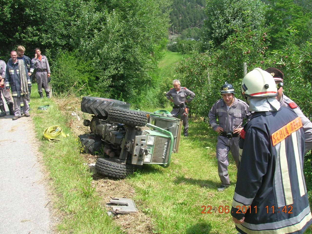 Traktorunfall in Kortsch