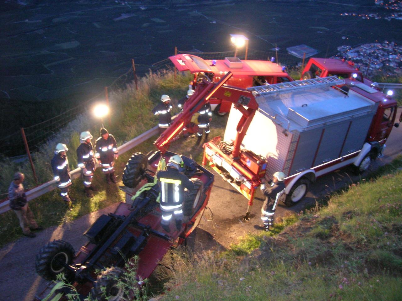 Traktorabsturz Tappein Höfe 2009