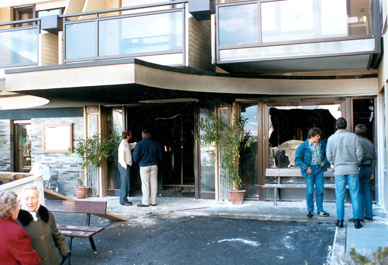 Brand Bürgerheim Schlanders 1988