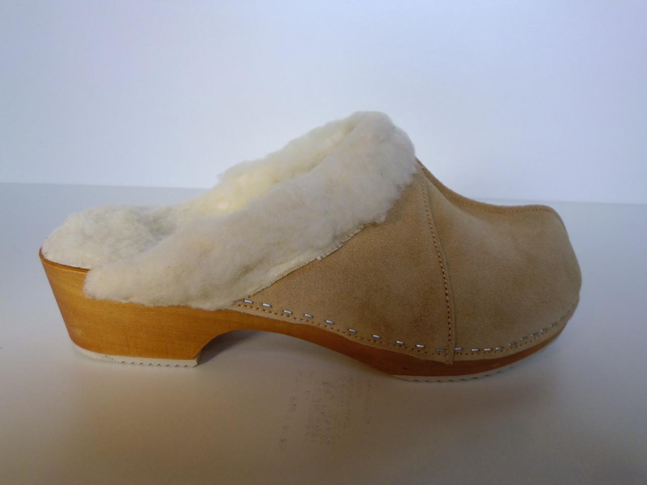 Sabots femme en cuir et sabots fourrés Les chaussons d'Alicia Boutigne en ligne de chaussons  # Sabot En Bois Pour Femme