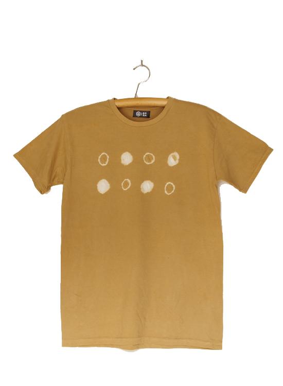 熊野番茶染め Tシャツ(御浜小石絞り・銅媒染)