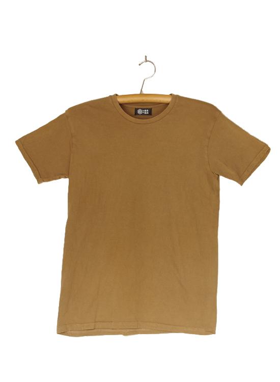 熊野番茶染め Tシャツ(無地・銅×鉄媒染)
