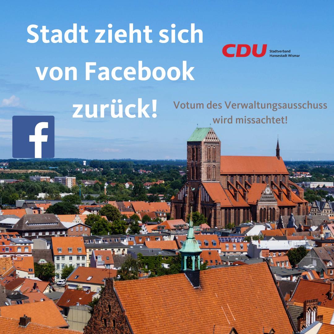 Missachtung des Votums des Verwaltungsausschusses – Stadt zieht sich von Facebook zurück!
