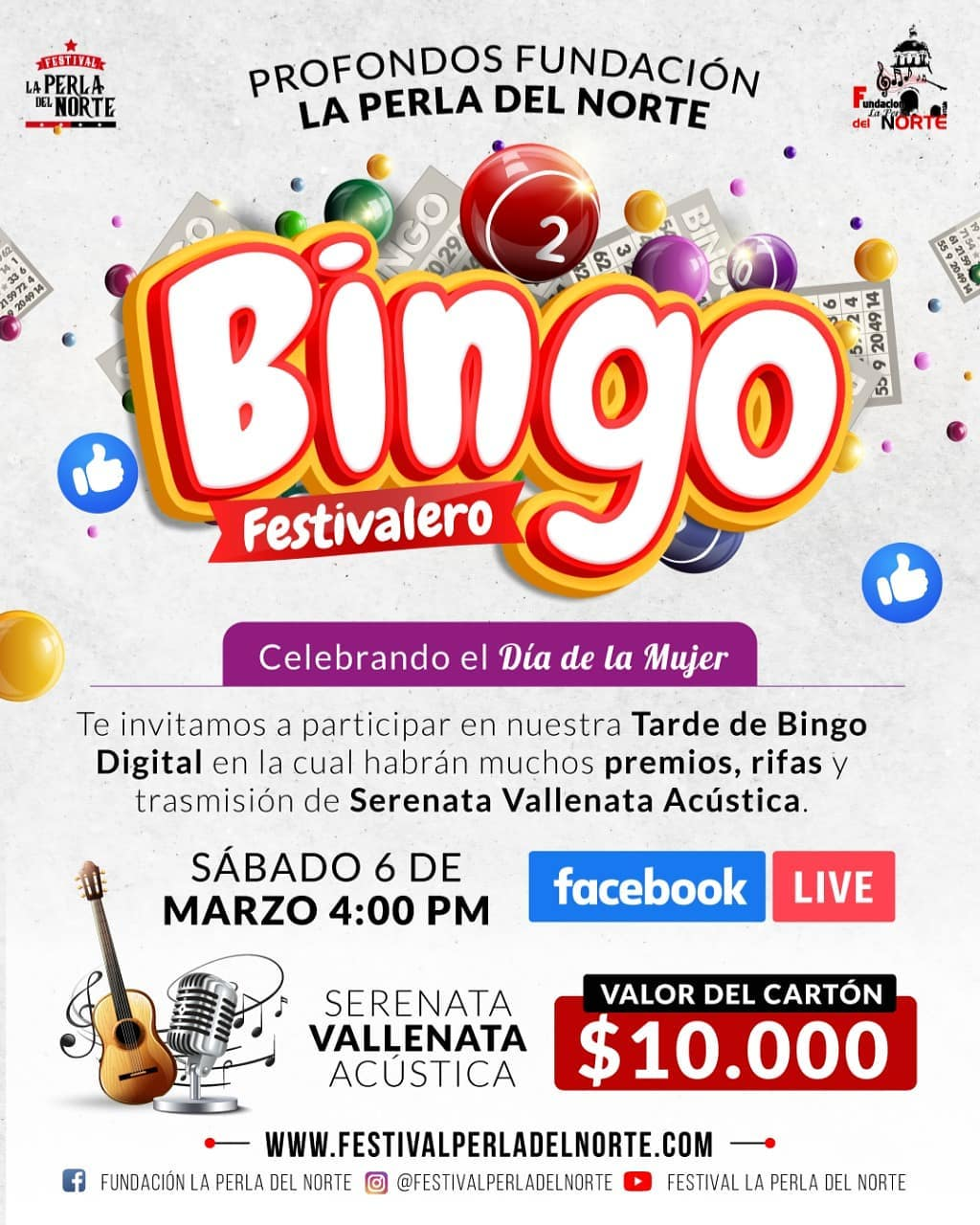 ¡Bingo Festivalero, Celebrando el Día de la Mujer!