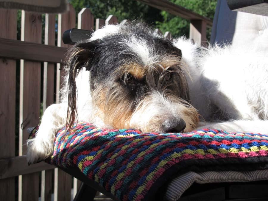 Und dann entspannt auf dem Balkon fletzen...