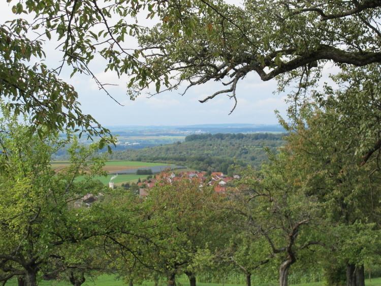 Blick über Beuren nach Stuttgart