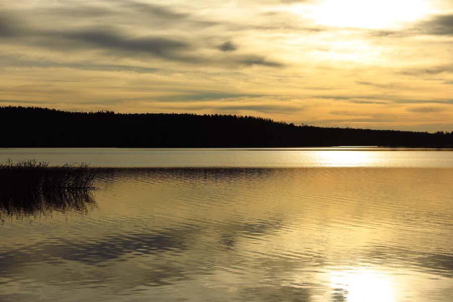 Abendstimmung am See...
