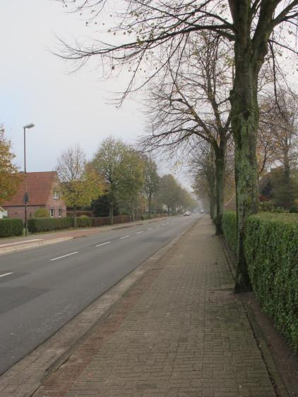Die leere Hauptstraße!