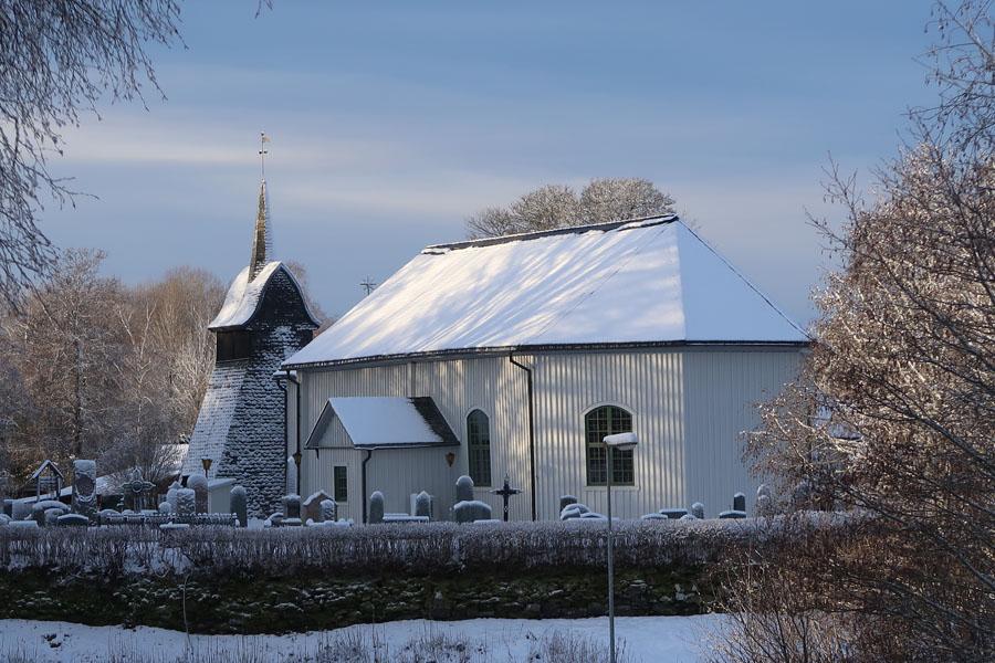 Starten an der Kirche...