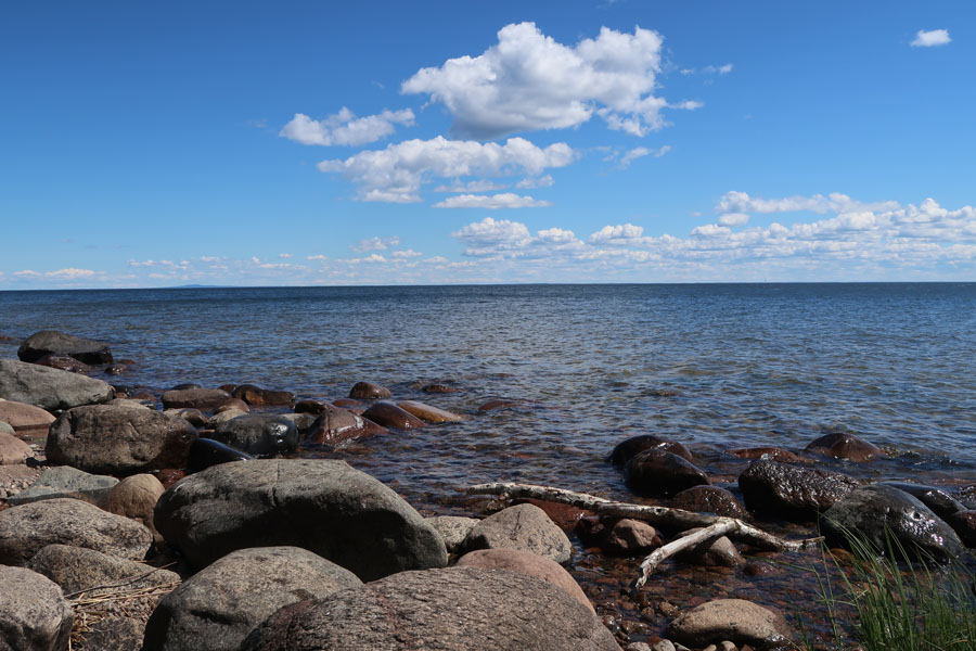 ...ok Seeblick. Aber der Vänernsee ist fast 10 mal so groß wie der Bodensee!