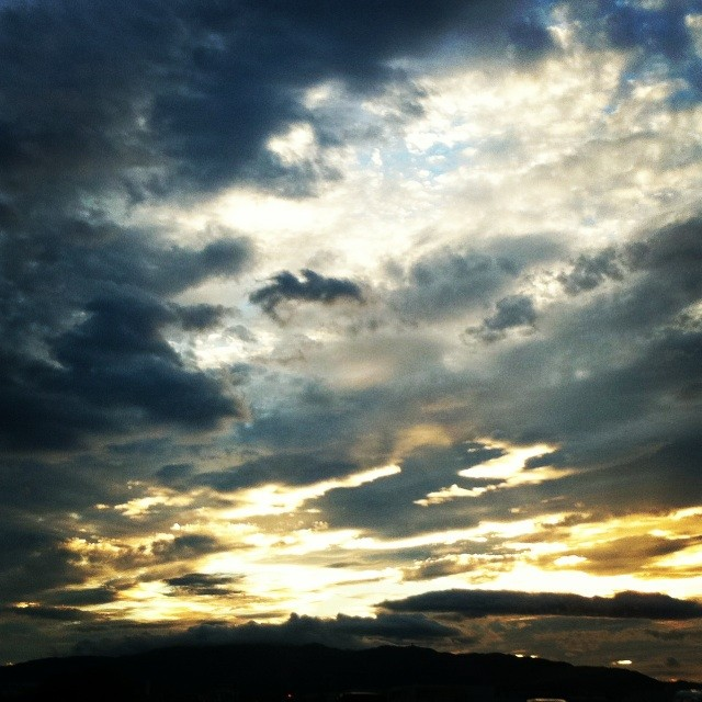 ある日の空が神々しすぎて