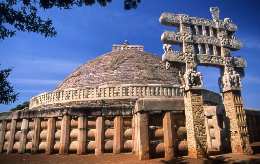 Buddhistische Stupa in Sanchi