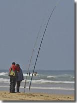 Surfcasting sur la côte landaise