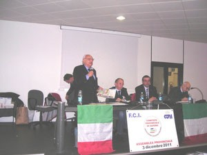 L'INTERVENTO DEL PRESIDENTE SPERANZA ALL'ASSEMBLEA FCI 2011 NELLA SALA MOSTRE DELLA PROVINCIA DI SAVONA