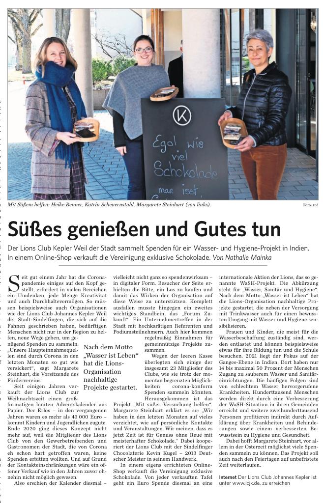 Leonberger Kreiszeitung -13.03.2021