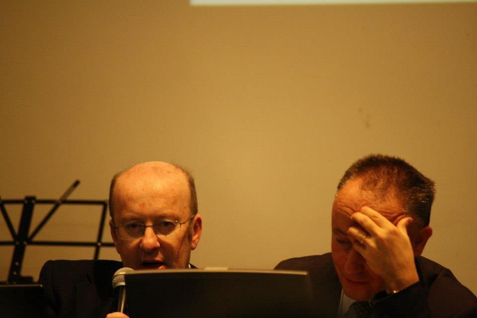 Consigliere regionale Bruno Marini e il professor Stefano Pilotto