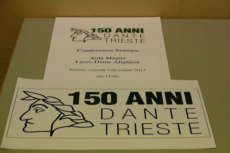 Logo dell'Associazione Liceo dante 150 Trieste
