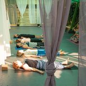 Yoga, Strand, Urlaub, Meer, Corfu, Entspannung, Freude,