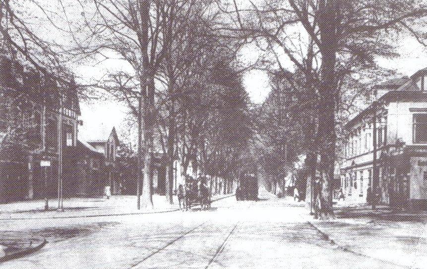 """Oslebshauser Heerstraße"", etwa 1903"