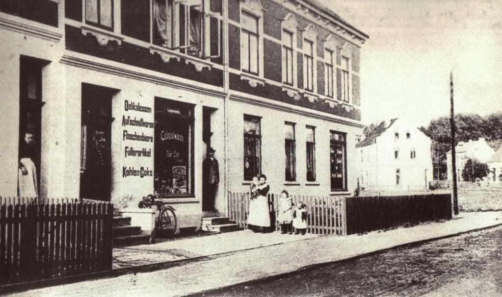 """""""Oslebshauser Landstraße Nr. 27 - 31"""", Postkarte um 1910"""