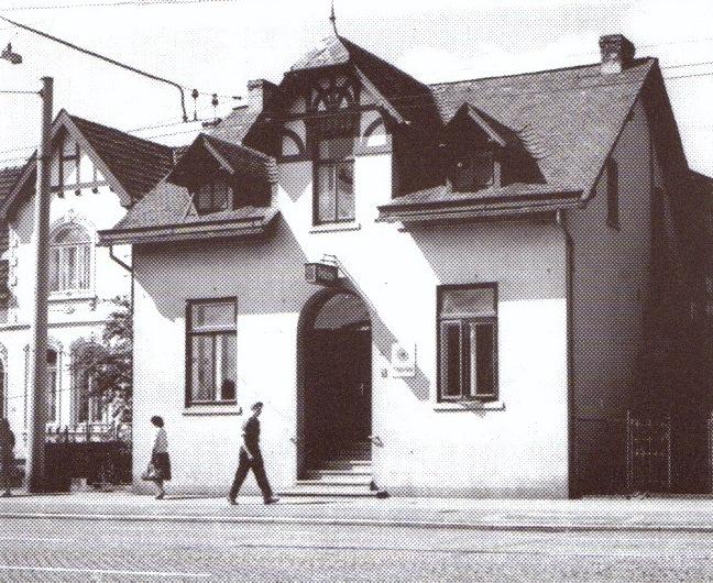 """Die alte Polizeiwache, """"Oslebshauser Heerstraße"""" um 1950"""