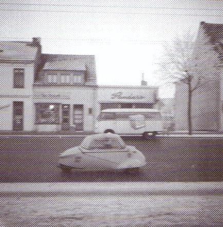 """Oslebshauser Heerstraße"" gegenüber vom Parkbunker, ca. 1955"