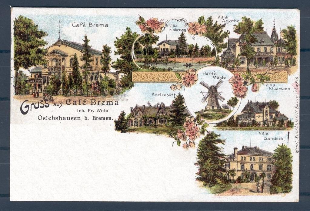 Café Brema, Postkarte ca. um 1900