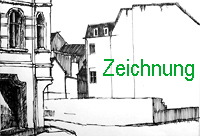 zeichnung zeichnungen bildende kunst federzeichnung häuser straßenecke greifswald enno franzius