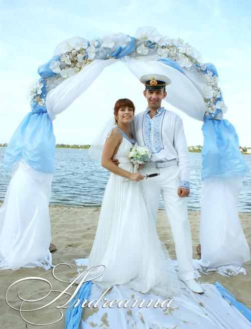Киевская свадьба, в морском стиле.