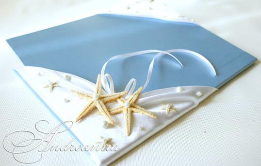"""Папка для свидетельства """"Тропический остров"""" с морскими звездами, стоимость 550 грн"""