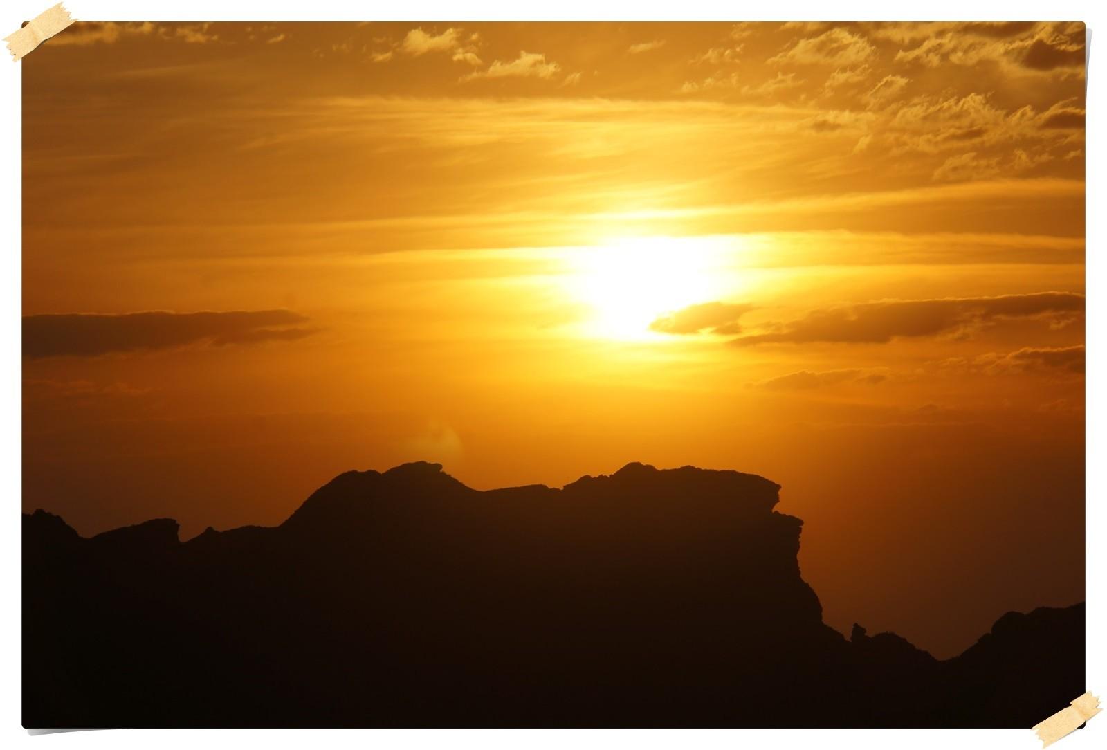 Sonnenuntergang in der Sierra