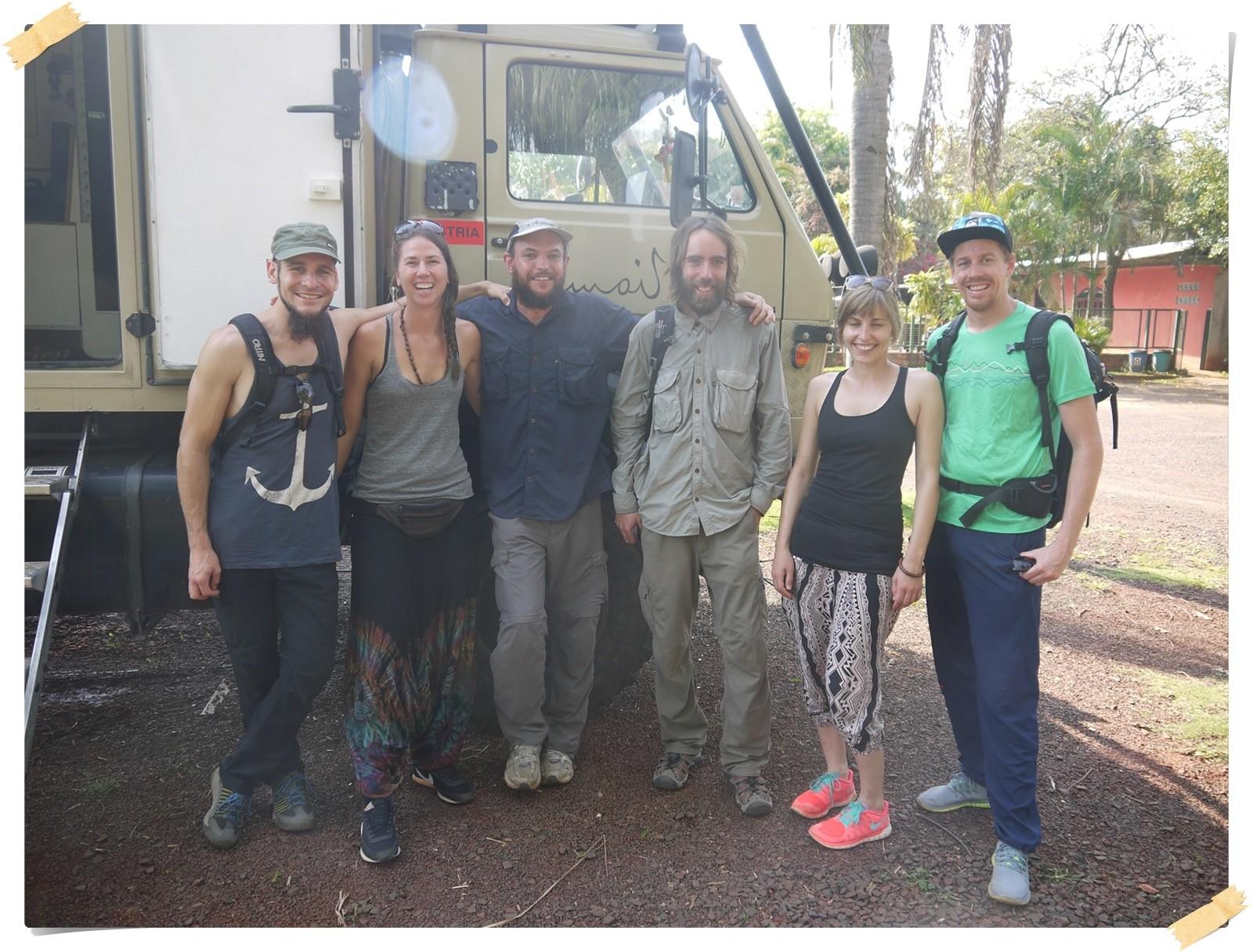 Diese jungen Leute waren eine schöne Begegnung in Foz do Iguazu