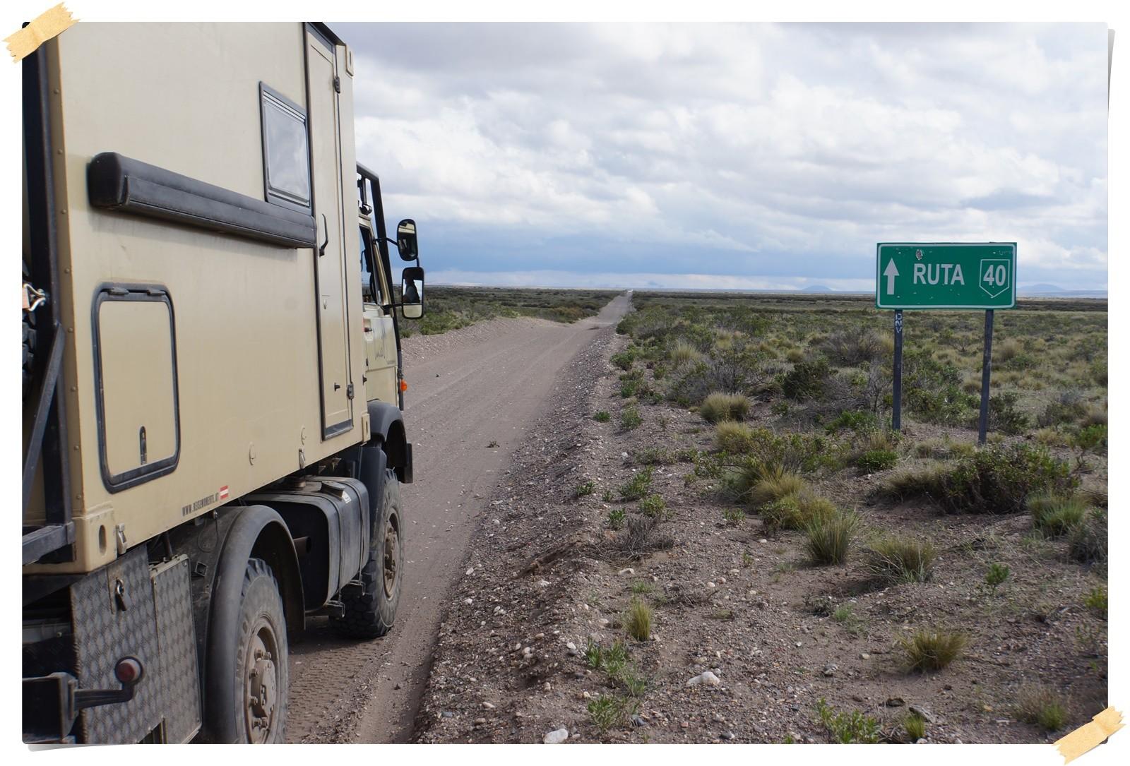 Auf der Ruta 49 Richtung Süden