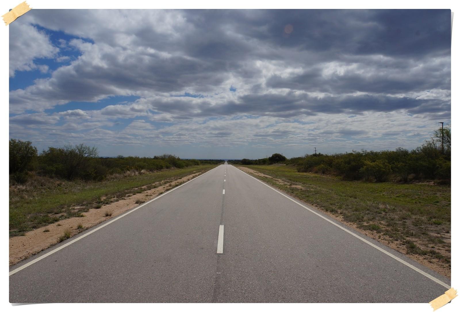 Die Strassen in der Pampa