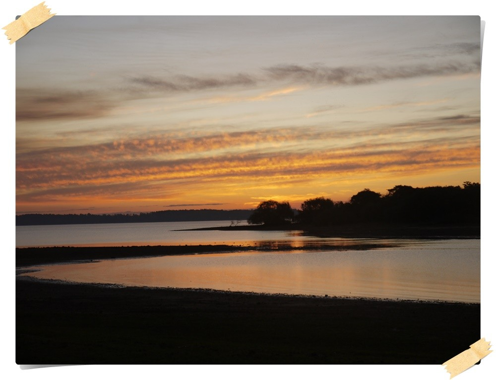 Sonnenuntergang am Rio Uruguay