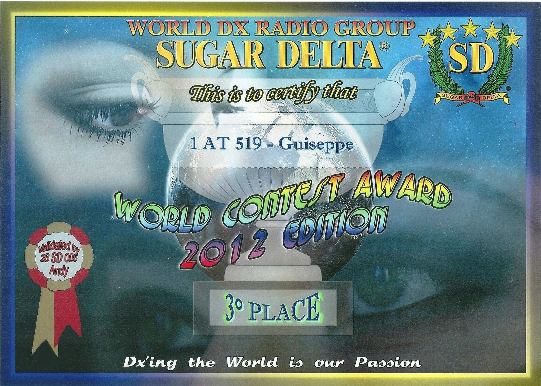 AWARD WORLD CONTEST SUGAR DELTA 2012