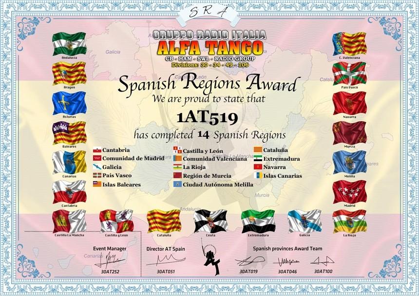 Spanish Regions Award