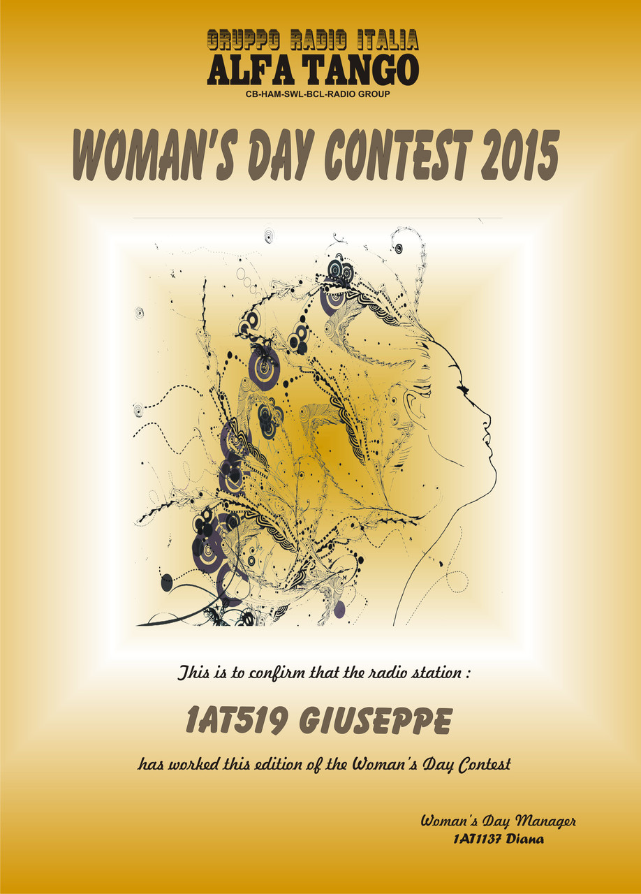1AT519 Giuseppe Woman's Day Contest Award 2015