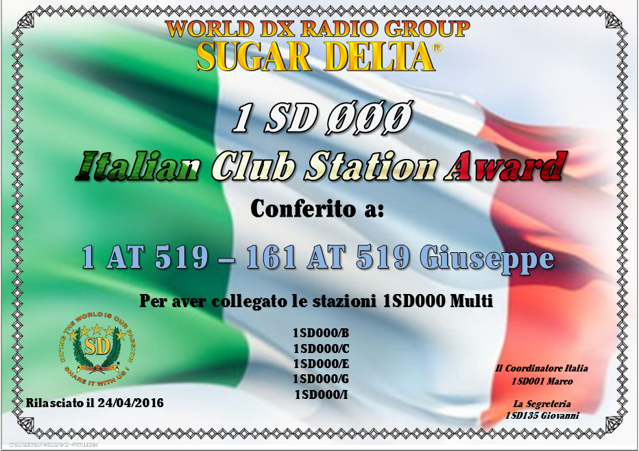 ITALIAN  CLUB  STETION  AWARD