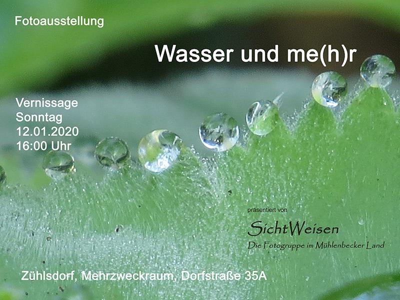 Ausstellung der Fotogruppe Sichtweisen im Mehrzweckraum in Zühlsdorf ab 12.Januar 2020