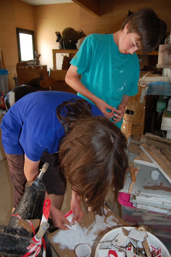 Antonin et Hugo à la peinture