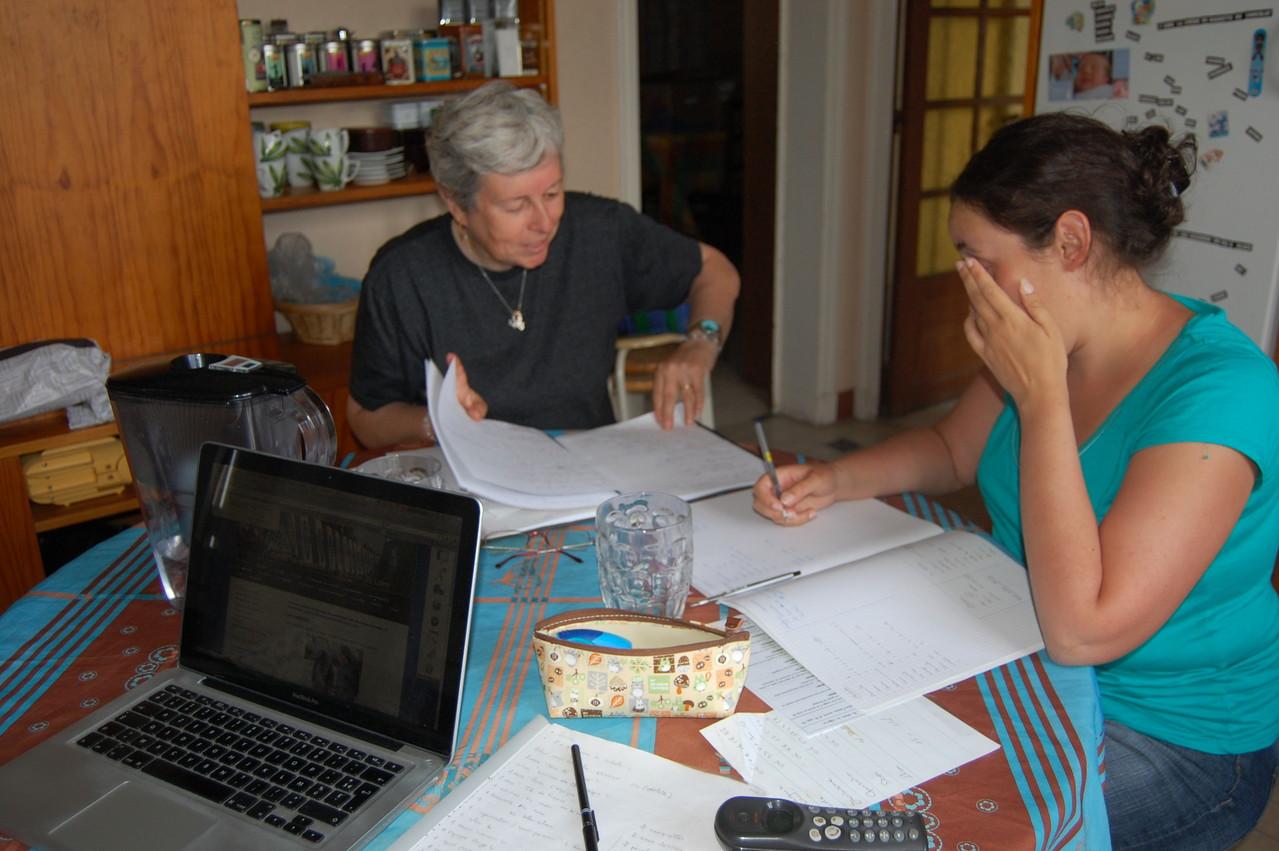 Dominique et Aude en pleine réflection