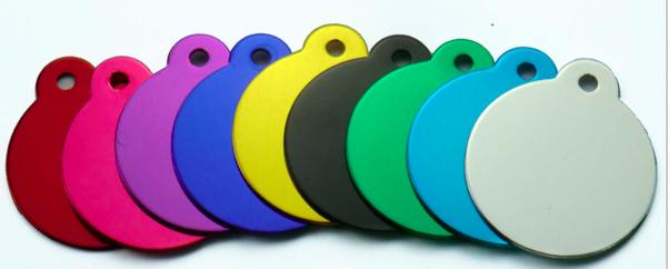 Schlüsselanhänger: farbig, rund - Ø 3,15cm, 1mm